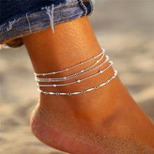 17 км богемные хрустальные оболочки лодыжки для женщин красочный камень браслет на ногу многослойный браслет на ногу пляжная черепаха ножно...(Китай)