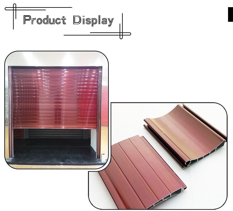 Truck Garage Patio Aluminum  Automatic Electric Motor Rolling Shutter Doors With Foam