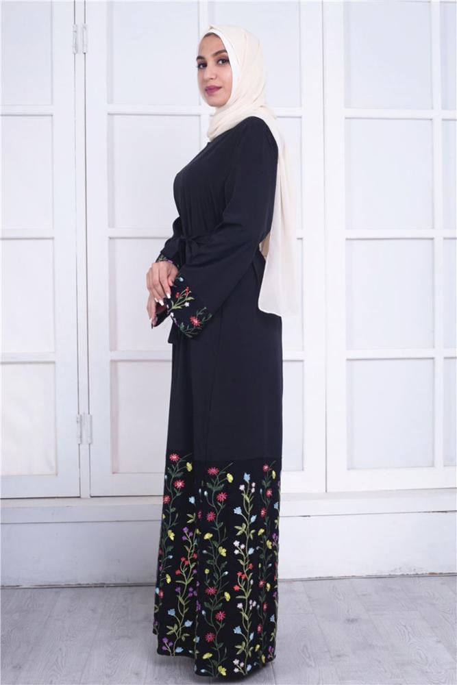 Çağdaş şifon maxi uzun kollu kadın marocain kaftan kimono kollu elbise