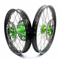 36 spoke aluminum motorcycle wheel hub and rims sets for kawasaki