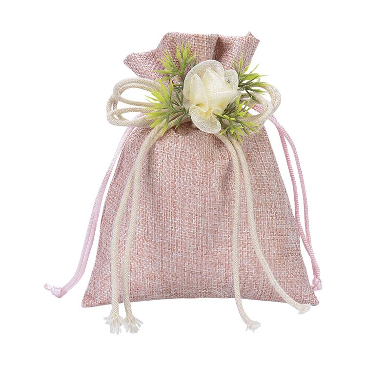꽃 예쁜 핑크 소녀 선물 파우치 쥬얼리 포장 쥬얼리 린넨 가방