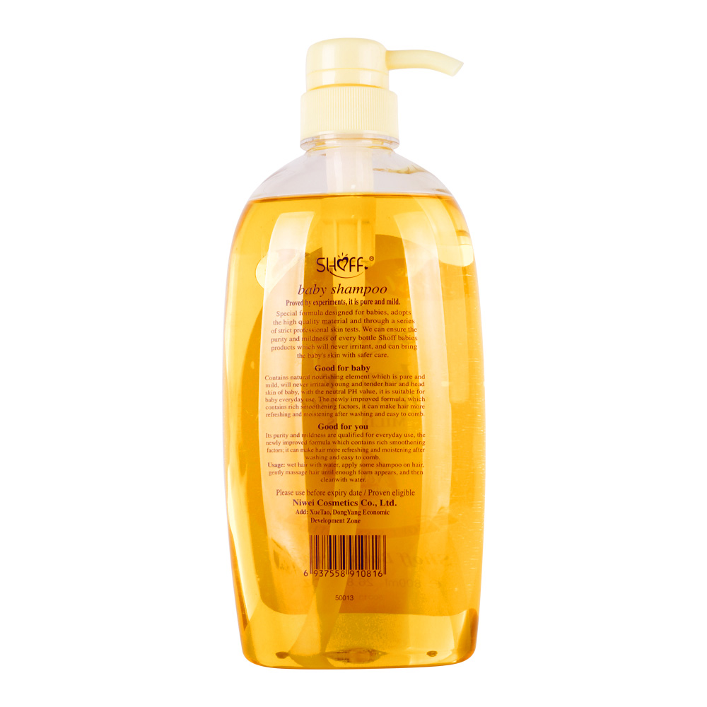 Factory oem 800ML kids 2-in-1 wash& shampoo nourish tender house-use with good quality and private label