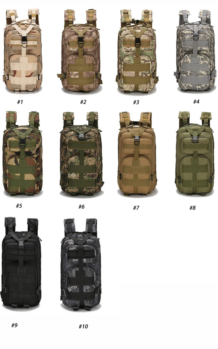 Osgoodway2 Multicolor Hiking Trekking Camo Army Camouflage Outdoor Waterproof Tactical Military Backpack