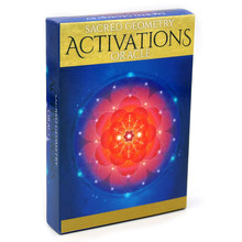 44 шт., Sacred geometer Activation Oracle, откройте для себя язык вашей души, Карты Таро для начинающих, журнал, тканевая игра Divine(Китай)