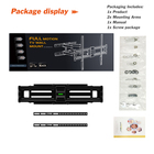 Full motion tv wall mount from china factory, hot sale lcd bracket tv wall mounts support 32-70 inch tvs and 600X400mm vesa