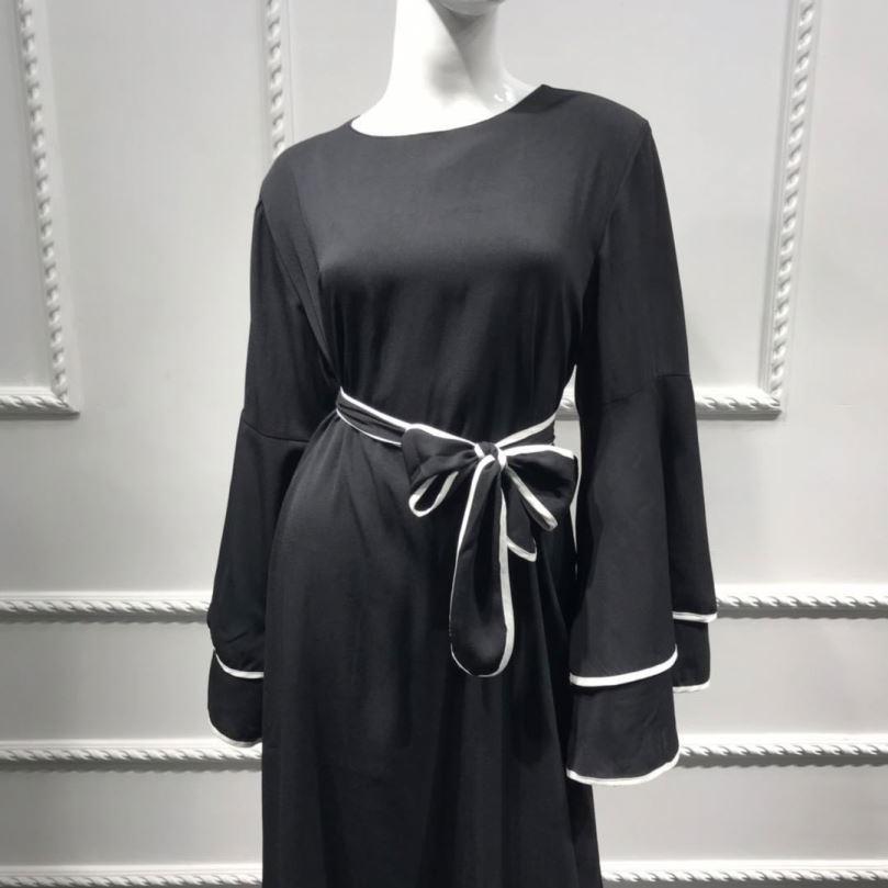 2020 हड़ताली विपरीत रंग फैशन Abaya Hooded ढीला batwing स्पेयर समय के लिए दुबई abaya नए डिजाइन आकस्मिक खेल पोशाक