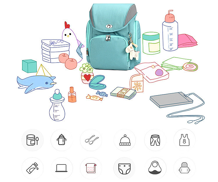 Lightweight maternal package baby nappy backpack mummy diaper bag
