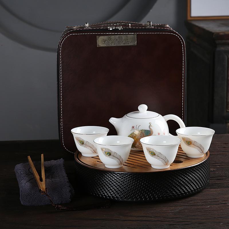 Miniatura jade antiguo japonés de Kung Fu de porcelana china de cerámica té tetera