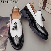 Лоферы, броги, дизайнерские туфли, мужские оксфорды, роскошные мужские туфли для вечеринок, мужские свадебные модельные туфли из лакированн...(China)