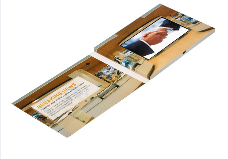 A5 A6 paper card 4.3inch LCD screen video softcover Book Lcd screen Booklet Video mailer