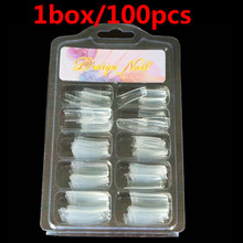 Putimi 100 шт. половинные накладки для ногтей натуральные/прозрачные акриловые УФ-гель Ложные Типсы для маникюра половинные накладные ногти(Китай)