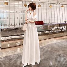 Платье для выпускного вечера It's Yiiya AR336, Элегантное маленькое белое платье с коротким рукавом, Vestido De Festa, открытые вечерние платья длиной выш...(Китай)