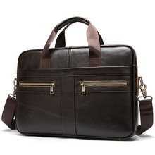 Custom Logo Functionele Executive Business Laptop Designer Computer Tas Handtas Koffie Mens Soft Zijdig Lederen Aktetas