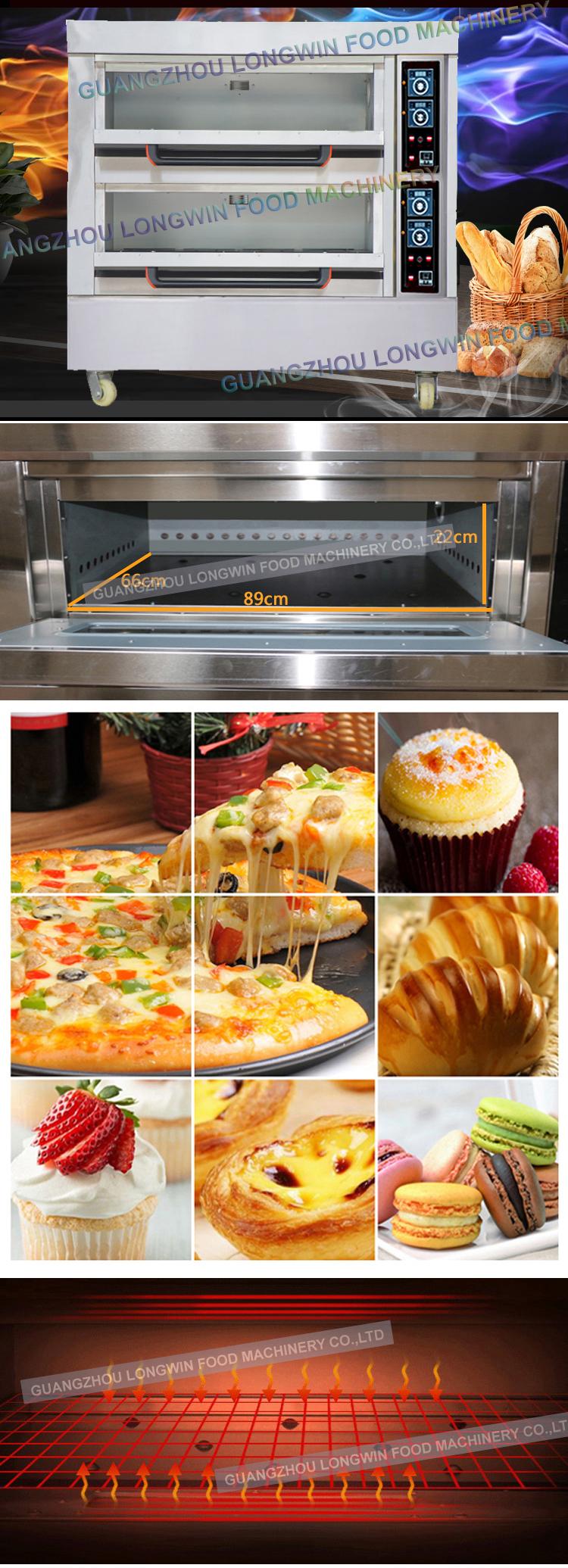 Usine Vente Automatique Utilisé Four à Pizza Commerciale Pierre Brique Gaz Four À Pizza