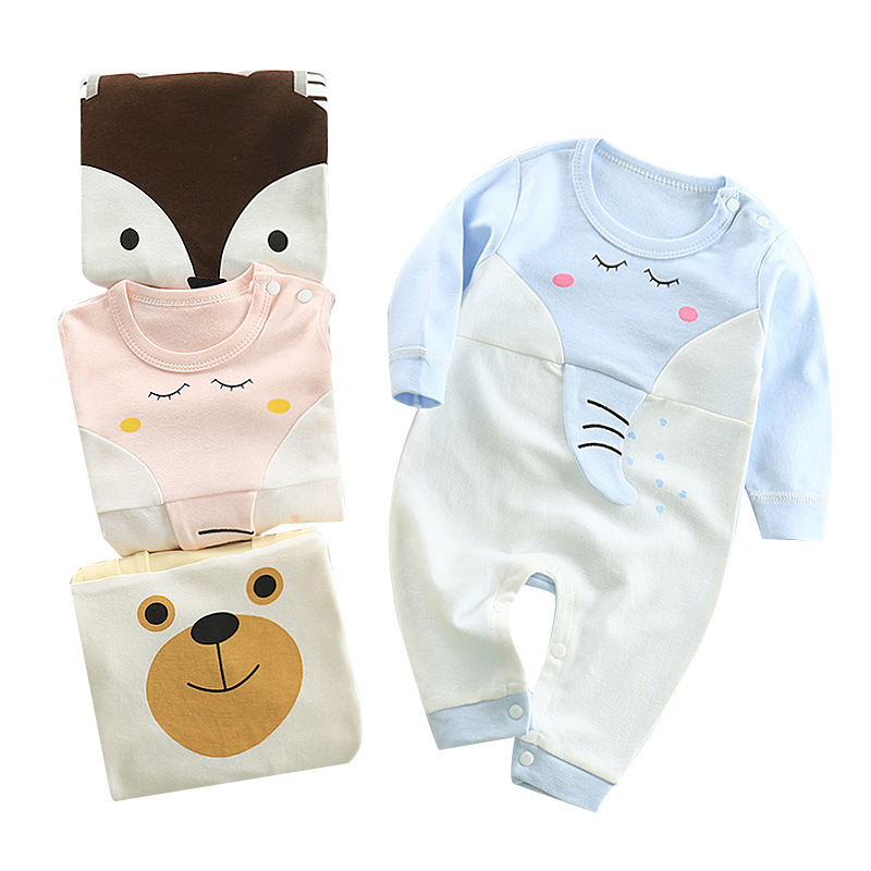 2021 European sweet 100% cotton unisex toddler clothing sets long sleeve infant newborn baby girl body suits white rompers