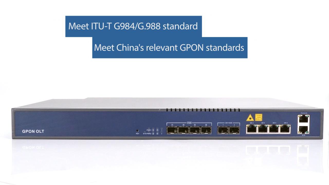 4 Port OLT GPON V-SOL Model Baru V1600G0 Terjemahan untuk Huawei Smartax MA5680T