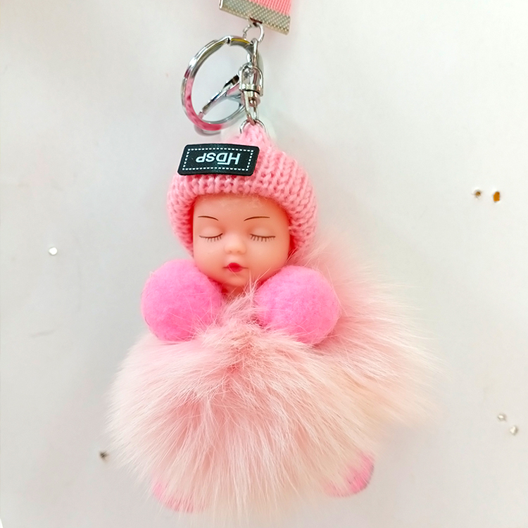 Cheap pink natural <strong>fur</strong> <strong>ball</strong> <strong>keychains</strong> with <strong>fur</strong> <strong>ball</strong>