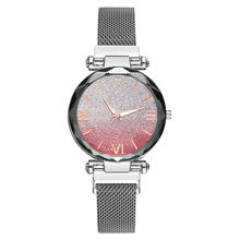 Роскошные женские часы модные кварцевые часы магнит камень лебедь алмаз Леди передачи дамы Reloj Mujer Montre Femme Новый(Китай)