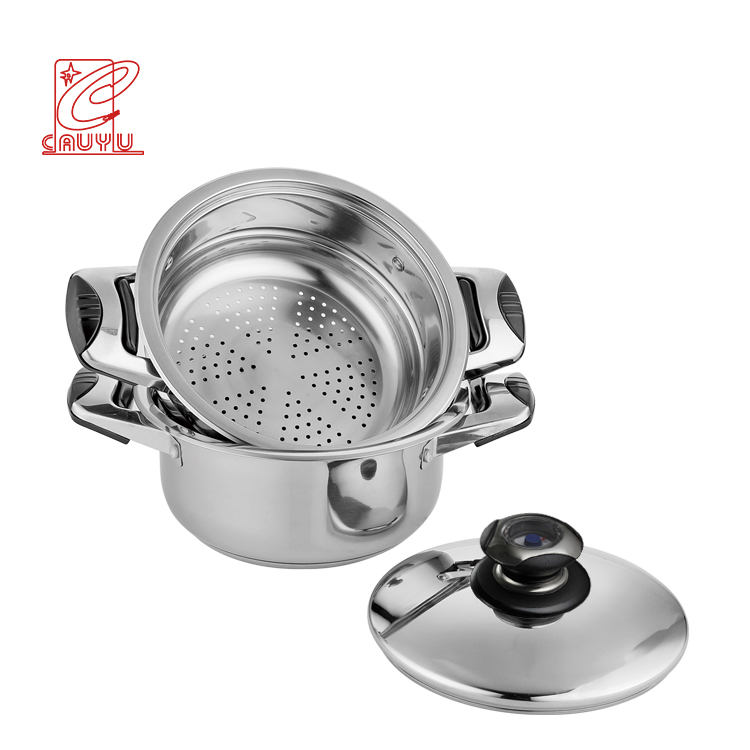 Newest Promotion Cooking Pot Set Cookware 12 Pcs Stainless Steel Cookware Set With Thermometer Knob