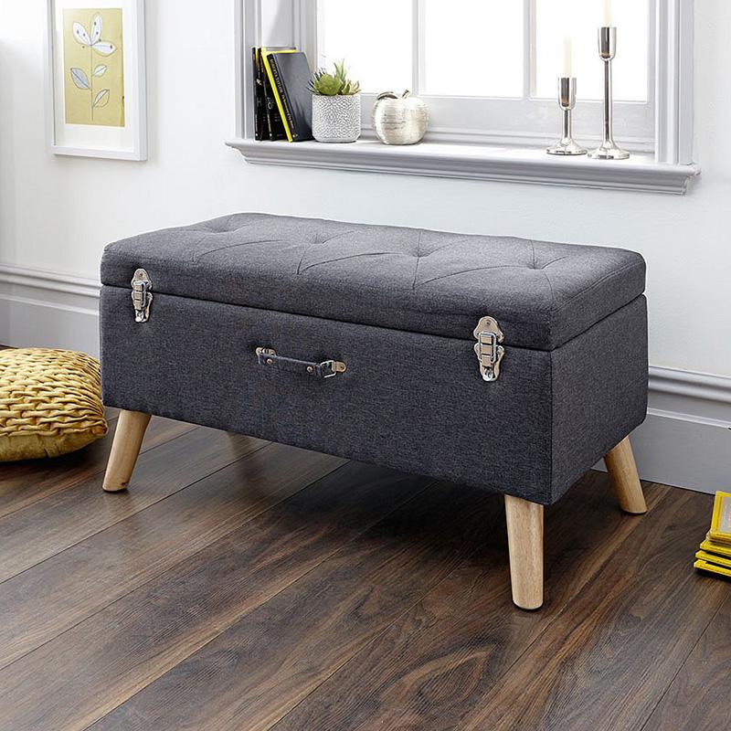 New design amazon Velvet living room ottoman seat with storage bedroom velvet bench