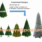 Blue PVC Blue Green Christmas Christmas Tree With Lights Customized