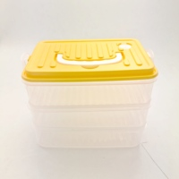 Three Layer Food Container Good Quality Wholesale Cheaper Price Plastic Storage Box with 3 Layers For Home&Office Use