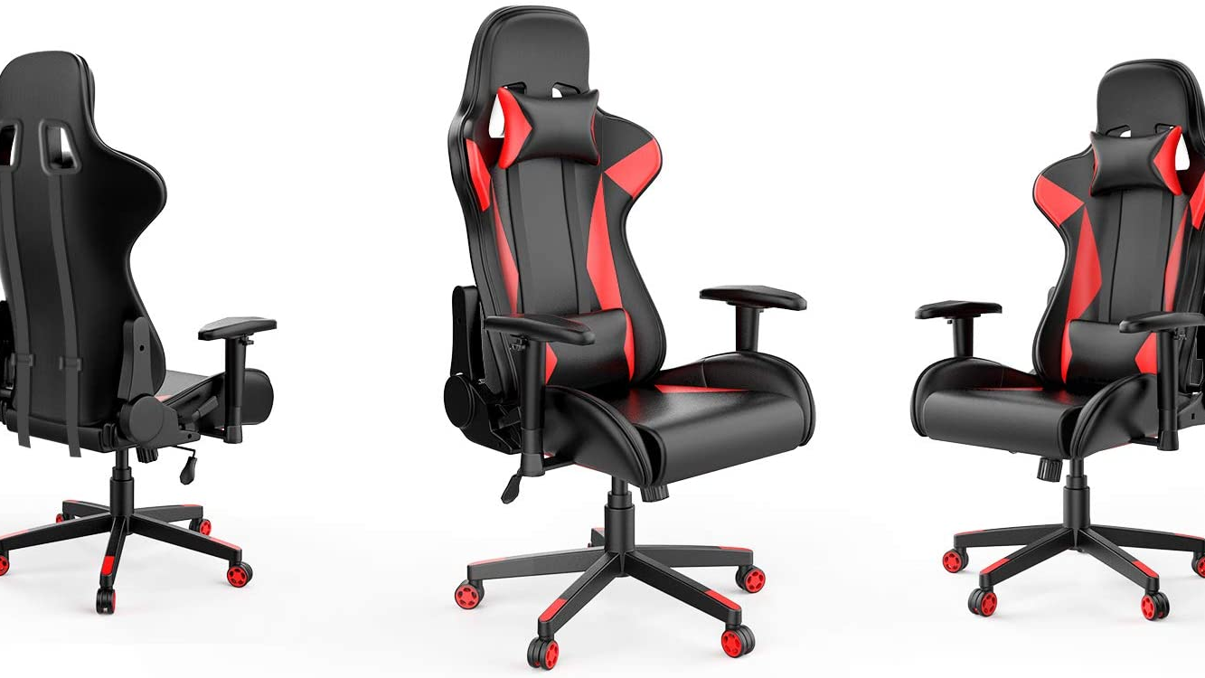 USA STOCK Gaming Chair Racing Computer Desk Office Chair,High-Back Ergonomic Adjustable Swivel Chair