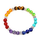 Trade Insurance Natural Stone Jewelry 8MM Buddha Head Yoga Charka Bracelet