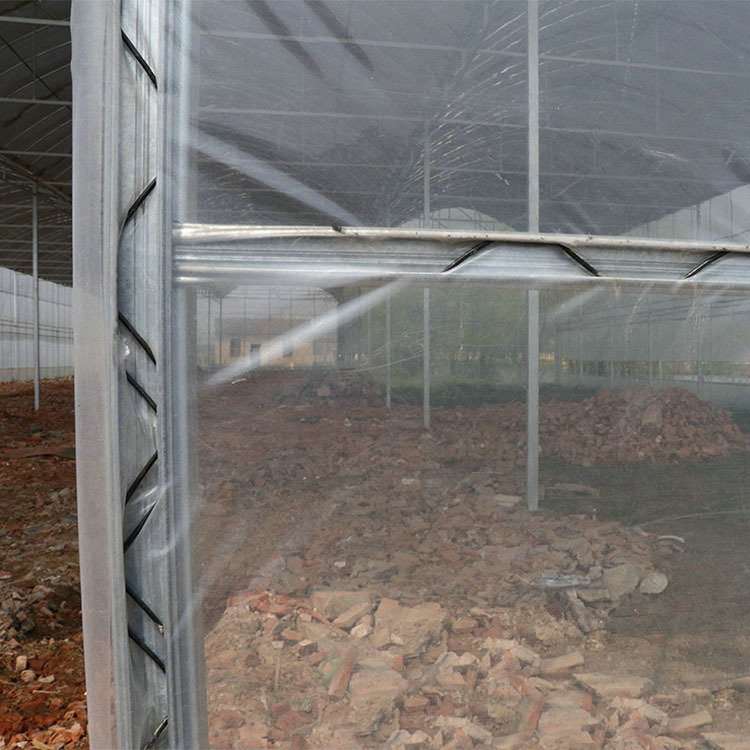 Greenhouse film poly lock channel and wiggle wire