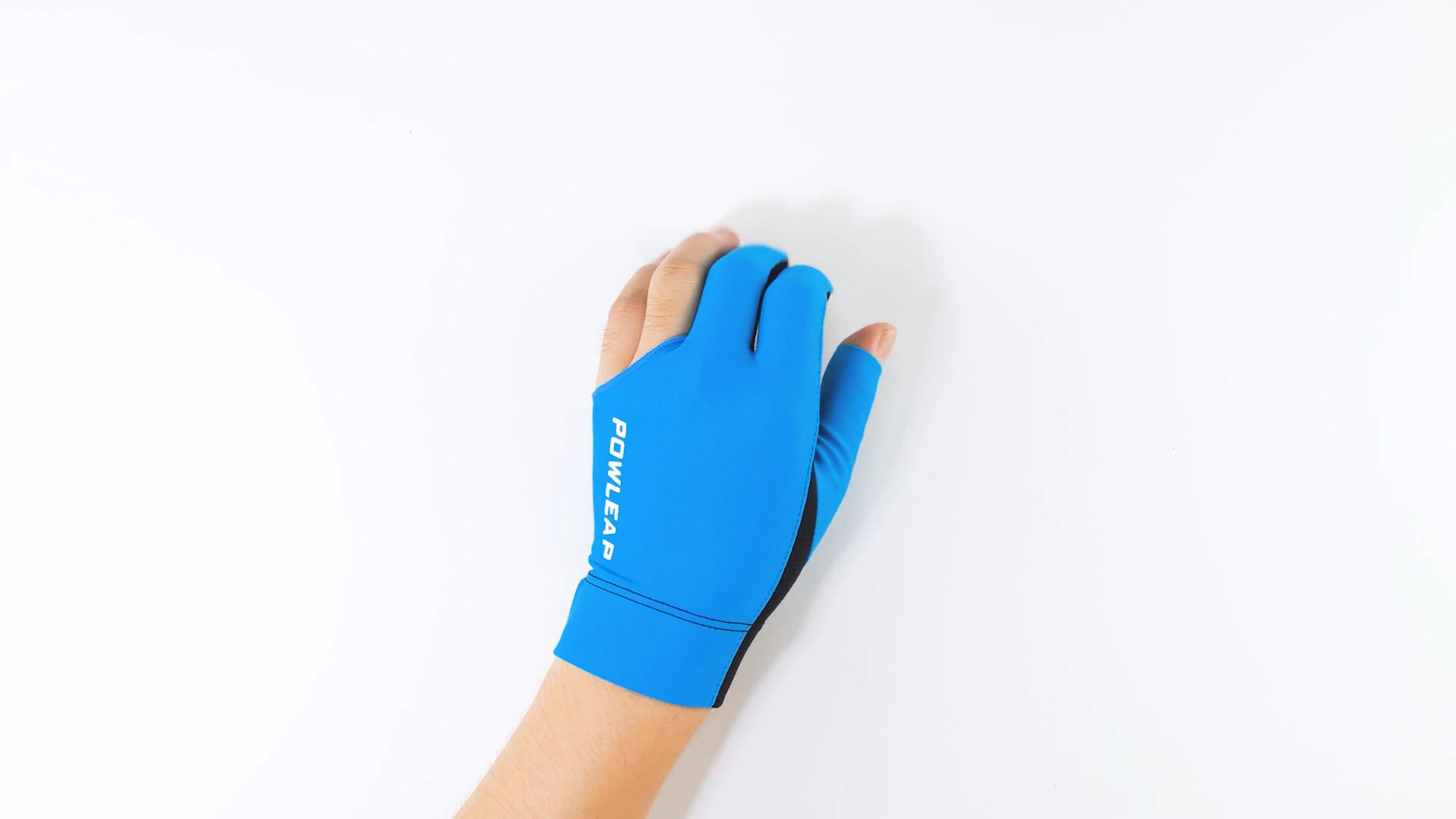 2021 สามนิ้วมือซ้ายมือบิลเลียดนักกีฬาถุงมือสระว่ายน้ำCueถุงมือสวมใส่ถุงมือสนุ้กเกอร์