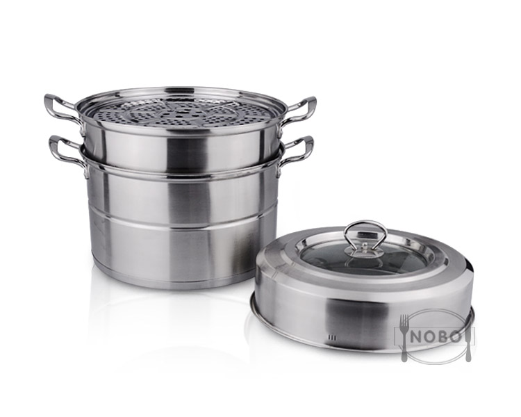 Favorable price commercial rice cake steamer stainless steel food steamer with 2/3 layer