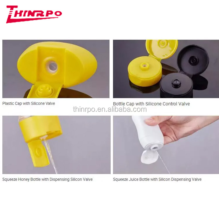 One way seal bottle cap silicone mould valve lined silicone cross slit valve self-sealing jet valve for squeeze bottle