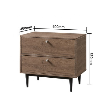 Factory Price Bedroom Furniture Bedside Table Wooden Nightstand