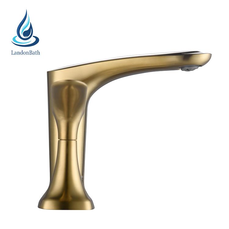 Oro ducha bañera grifo 3pcs cubierta montaje bañera mezclador grifos generalizada bañera grifo