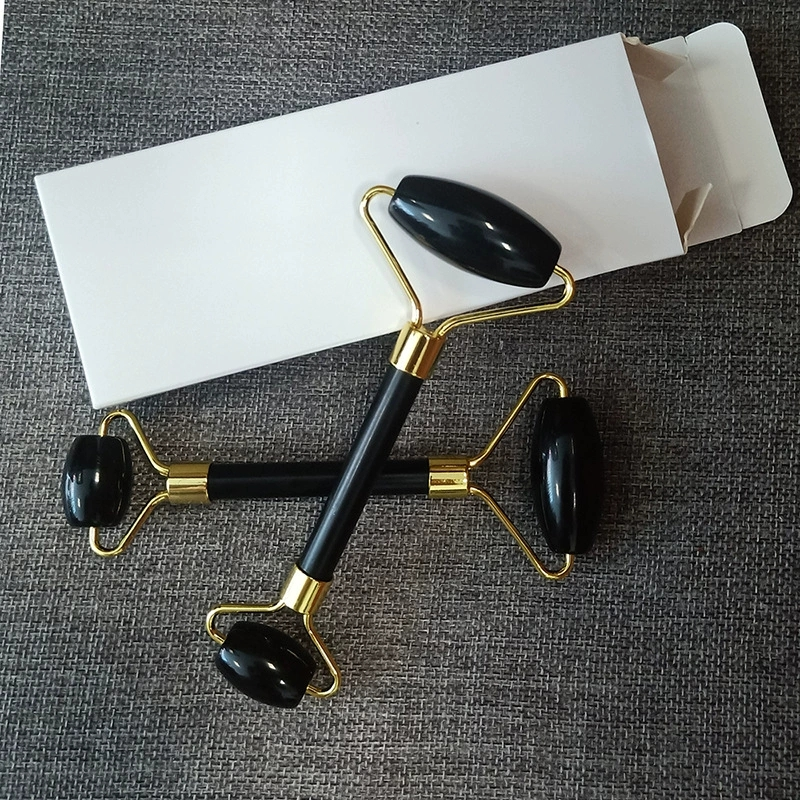 Black Obsidian Jade Roller For Facial Massage with gift box