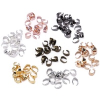 50pcs/lot 7 Color Pendant Clips Pinch Bail Clasps Buckle Charm Necklace Hook Connector For DIY Jewelry Making Cameo Tray Finding