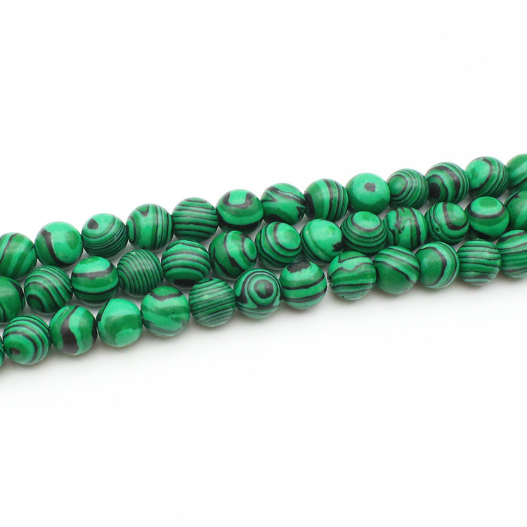 High Quality Natural Malachite Beads Loose Gemstone Synthetic Multicolor Malachite Round Beads for Latest Design Bracelet