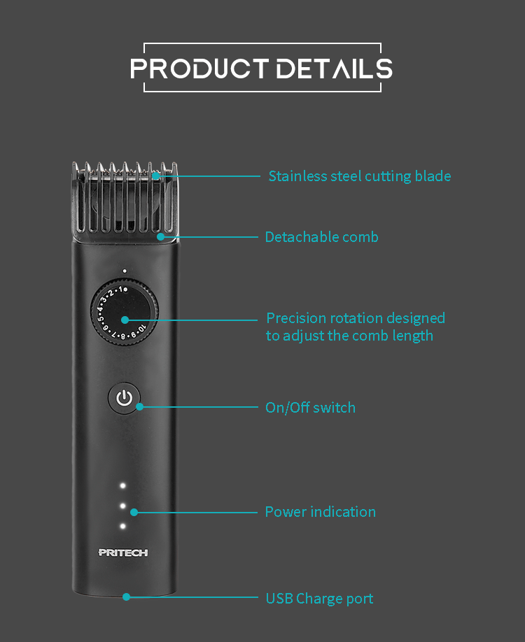 PRITECH PR-2388 Beard Trimmer IPX6 Water proof 3