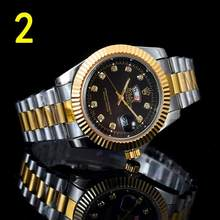 Топ люксовый бренд WINNER черные часы Мужские Женские повседневные мужские часы деловые спортивные военные часы из нержавеющей стали 6424(China)