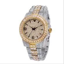 Мужские часы Топ бренд класса люкс Missfox Rolexable водонепроницаемые часы мужские часы Полный алмаз Hublo унисекс кварцевые часы(Китай)