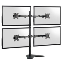 Computer Four Monitors Desk Bracket 4 Screens Table Adjustable Arm Support TV LCD VESA Quad Monitor Mount Stand