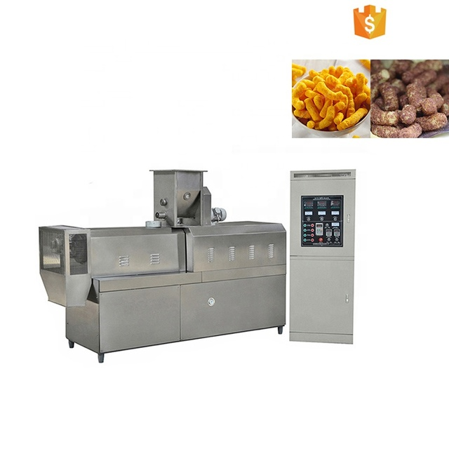 lowest price rice corn sticks production line snack wheat grain puffed snacks molding machine