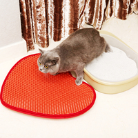 Honeycomb Double Layer Design Waterproof Urine Proof Dirt Trapper Mat for Cat Kitty Litter Boxes