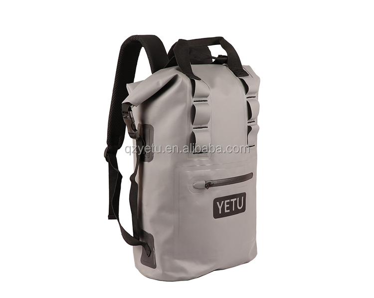 Custom Logo 500D PVC Tarpaulin Outdoor Camping Hiking Climbing Bag Waterproof Dry Backpack