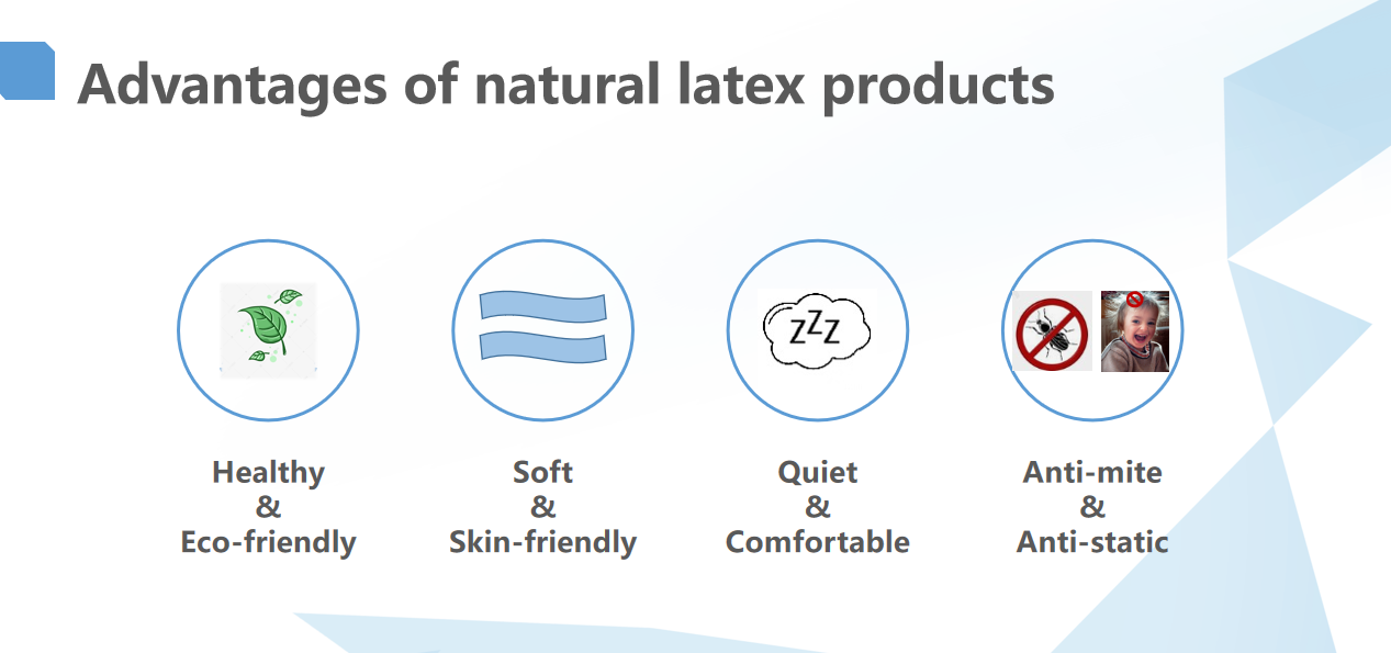 90% Natural latex mattress with covers ,Thailand natural latex mattress 7 zones