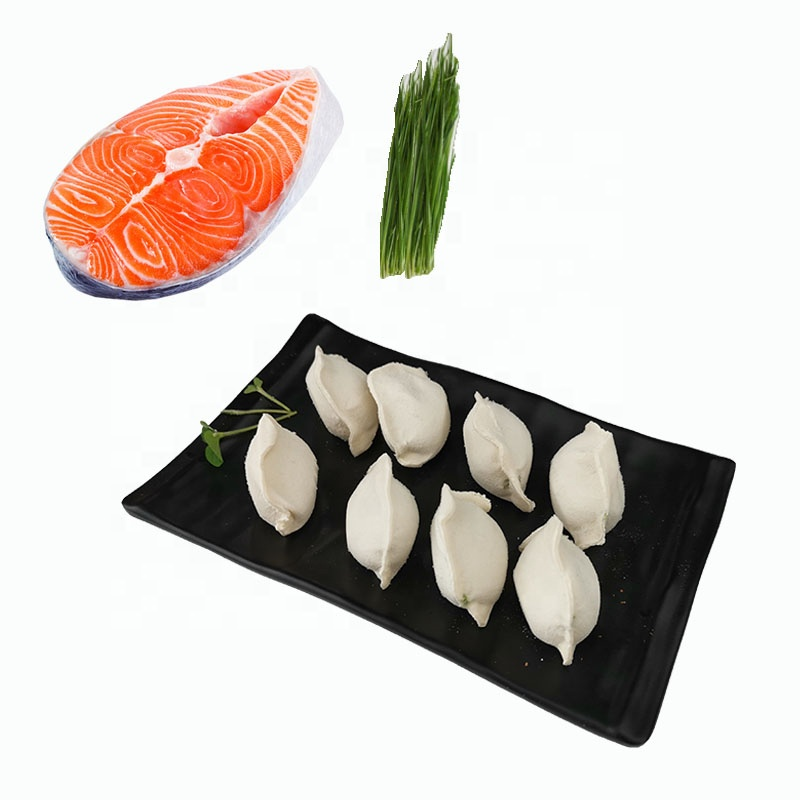 Huiyang Seafood frozen dumplings ;prepared Salmon meat dumplings ;Chinese Jiaozi;instant Chinese food