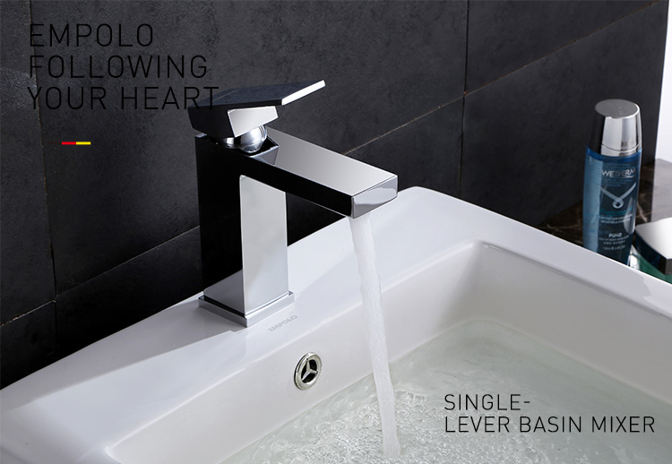 Single handle brass wall mounted bath faucet and shower mixer taps