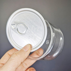 Airtight Plastic Lids Odorless Dry Food Jars Custom Label 3.5 g Tins Can Flower Storage Empty Clear Plastic Tin Cans