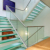 decorative solid building wall stairs 6mm safety ceramic frit laminated printing glass