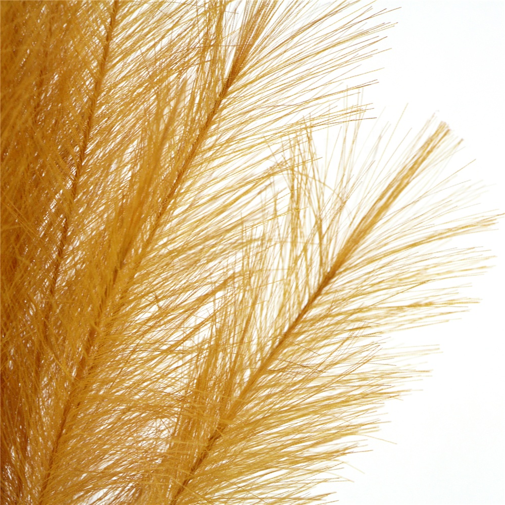 Real look white pink yellow faux dried reed pampas grass for home decor